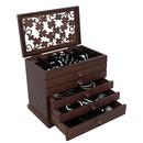 Brązowe szkatułki na biżuterię